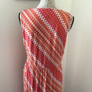 J. Jill Dresses - J. Jill - Crossover Front Printed Maxi Dress